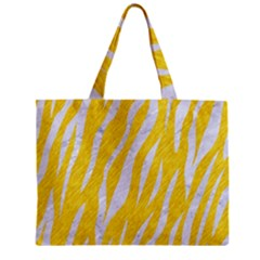 Skin3 White Marble & Yellow Colored Pencil Zipper Mini Tote Bag by trendistuff