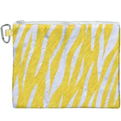 Skin3 White Marble & Yellow Colored Pencil Canvas Cosmetic Bag (xxxl) by trendistuff
