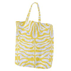 Skin2 White Marble & Yellow Colored Pencil (r) Giant Grocery Zipper Tote by trendistuff