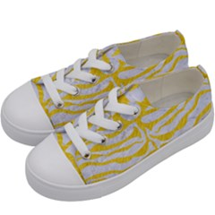 Skin2 White Marble & Yellow Colored Pencil (r) Kids  Low Top Canvas Sneakers by trendistuff