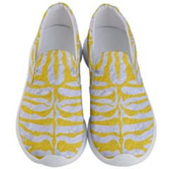 Skin2 White Marble & Yellow Colored Pencil (r) Men s Lightweight Slip Ons