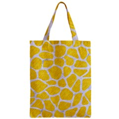 Skin1 White Marble & Yellow Colored Pencil (r) Zipper Classic Tote Bag by trendistuff