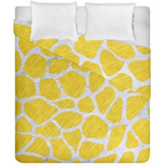 Skin1 White Marble & Yellow Colored Pencil (r) Duvet Cover Double Side (california King Size) by trendistuff