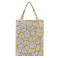 Skin1 White Marble & Yellow Colored Pencil Classic Tote Bag by trendistuff