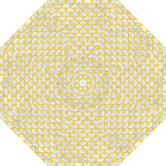 Scales3 White Marble & Yellow Colored Pencil (r) Golf Umbrellas by trendistuff