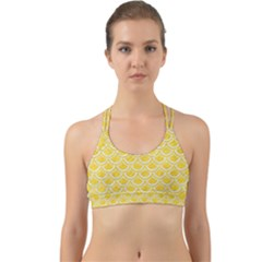 Scales2 White Marble & Yellow Colored Pencil Back Web Sports Bra by trendistuff