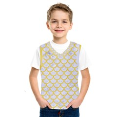 Scales1 White Marble & Yellow Colored Pencil (r) Kids  Sportswear