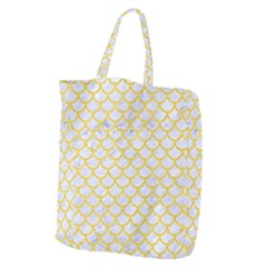 Scales1 White Marble & Yellow Colored Pencil (r) Giant Grocery Zipper Tote by trendistuff