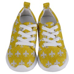 Royal1 White Marble & Yellow Colored Pencil (r) Kids  Lightweight Sports Shoes