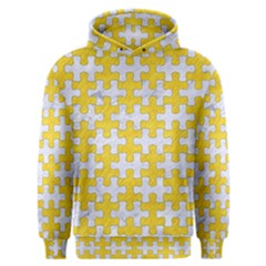 Puzzle1 White Marble & Yellow Colored Pencil Men s Overhead Hoodie