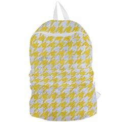 Houndstooth1 White Marble & Yellow Colored Pencil Foldable Lightweight Backpack