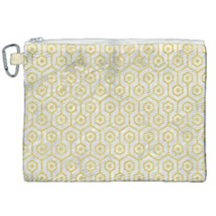 Hexagon1 White Marble & Yellow Colored Pencil (r) Canvas Cosmetic Bag (xxl) by trendistuff