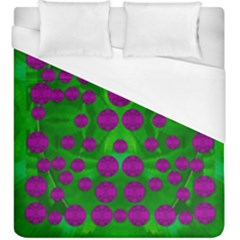 The Pixies Dance On Green In Peace Duvet Cover (king Size) by pepitasart