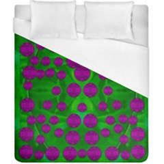 The Pixies Dance On Green In Peace Duvet Cover (california King Size) by pepitasart