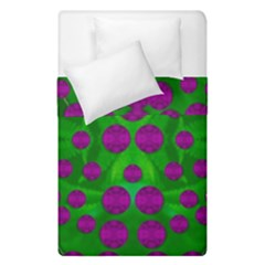 The Pixies Dance On Green In Peace Duvet Cover Double Side (single Size) by pepitasart