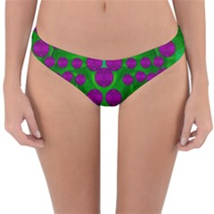 The Pixies Dance On Green In Peace Reversible Hipster Bikini Bottoms by pepitasart