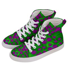 The Pixies Dance On Green In Peace Women s Hi Top Skate Sneakers by pepitasart