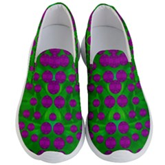 The Pixies Dance On Green In Peace Men s Lightweight Slip Ons by pepitasart