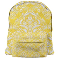 Damask1 White Marble & Yellow Colored Pencil Giant Full Print Backpack by trendistuff