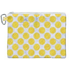 Circles2 White Marble & Yellow Colored Pencil (r) Canvas Cosmetic Bag (xxl) by trendistuff