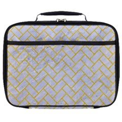 Brick2 White Marble & Yellow Colored Pencil (r) Full Print Lunch Bag by trendistuff