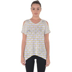 Brick1 White Marble & Yellow Colored Pencil (r) Cut Out Side Drop Tee