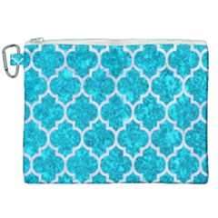 Tile1 White Marble & Turquoise Marble Canvas Cosmetic Bag (xxl) by trendistuff