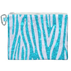 Skin4 White Marble & Turquoise Marble (r) Canvas Cosmetic Bag (xxl) by trendistuff