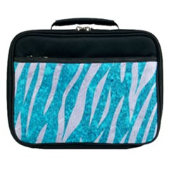 Skin3 White Marble & Turquoise Marble Lunch Bag by trendistuff