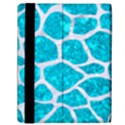 SKIN1 WHITE MARBLE & TURQUOISE MARBLE (R) Samsung Galaxy Tab 10.1  P7500 Flip Case View2