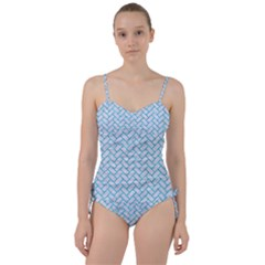 Brick2 White Marble & Turquoise Marble (r) Sweetheart Tankini Set by trendistuff