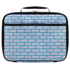 Brick1 White Marble & Turquoise Marble (r) Full Print Lunch Bag by trendistuff