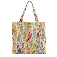 Decorative  Seamless Pattern Zipper Grocery Tote Bag by TastefulDesigns