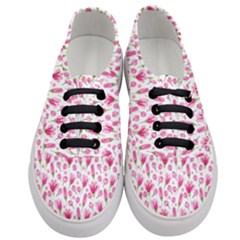 Watercolor Spring Flowers Pattern Women s Classic Low Top Sneakers