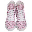 Watercolor Spring Flowers pattern Women s Hi-Top Skate Sneakers View1