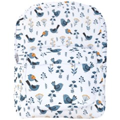 Spring Flowers And Birds Pattern Full Print Backpack by TastefulDesigns