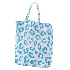 Skin5 White Marble & Turquoise Glitter Giant Grocery Zipper Tote by trendistuff
