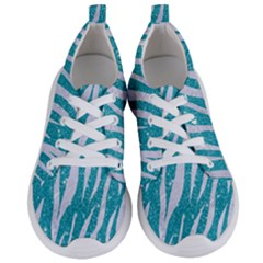 Skin3 White Marble & Turquoise Glitter Women s Lightweight Sports Shoes