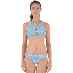 Scales2 White Marble & Turquoise Glitter (r) Perfectly Cut Out Bikini Set