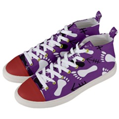 Purple Men s Mid-top Canvas Sneakers by HASHHAB