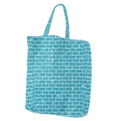 Brick1 White Marble & Turquoise Glitter Giant Grocery Zipper Tote by trendistuff