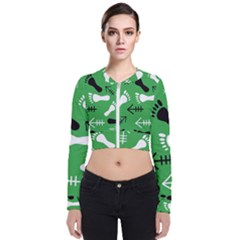 Green Zip Up Bomber Jacket by HASHHAB