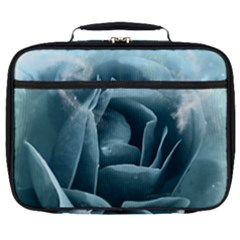 Beautiful Blue Roses With Water Drops Full Print Lunch Bag by FantasyWorld7