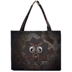 Wonderful Cute  Steampunk Owl Mini Tote Bag by FantasyWorld7