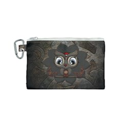 Wonderful Cute  Steampunk Owl Canvas Cosmetic Bag (small)