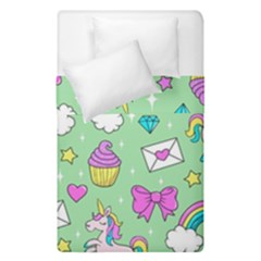 Cute Unicorn Pattern Duvet Cover Double Side (single Size) by Valentinaart