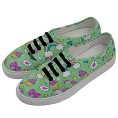 Cute Unicorn Pattern Men s Classic Low Top Sneakers by Valentinaart
