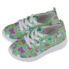 Cute Unicorn Pattern Kids  Lightweight Sports Shoes by Valentinaart