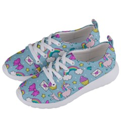 Cute Unicorn Pattern Women s Lightweight Sports Shoes by Valentinaart