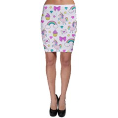Cute Unicorn Pattern Bodycon Skirt